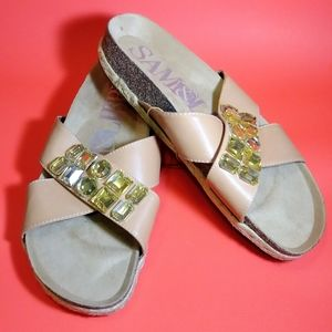 🆕🔴SAM & LIBBY FOOTBED SANDAL ARCH SUPPORT SZ 10